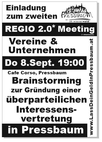 2.Regio-Meeting: Do 8.September 19:00