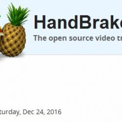 24.Dezember 2016 Handbrake V1.0.0 - Open source video transcoder