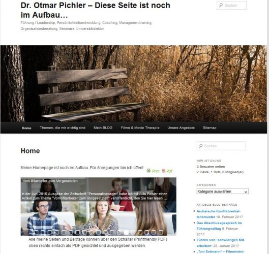 "Neue Website ""pichler-training.at"" im Aufbau!"
