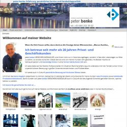 Website: Versicherungsmakler Peter Benke